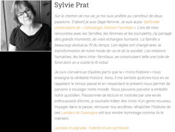 Sylvie Prat Auteure de Landais et pignada : Histoire d'une symbiose