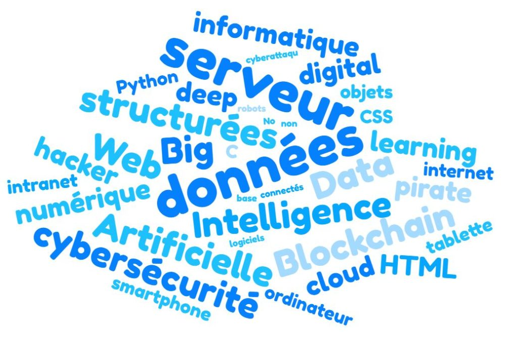 numérique, intelligence artificielle, blockchain, Big Data, cybersécurité