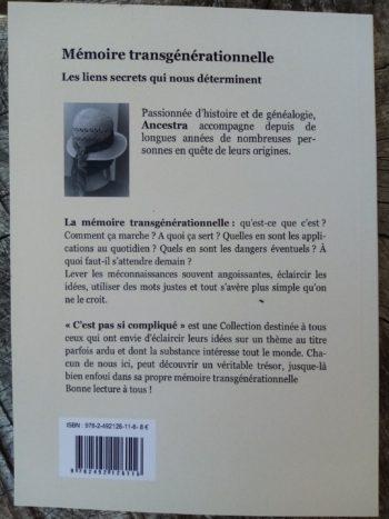 La mémoire transgénérationnelle- 4ème de couverture